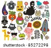Mix of different vector images and icons. vol.31 - stock vector
