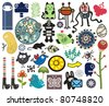 Mix of different vector images. vol.10 - stock vector