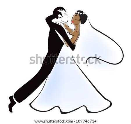 Mixed marriage - stock vector