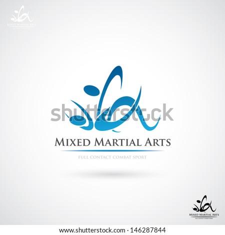 Mixed Martial Arts label - vector illustration - stock vector