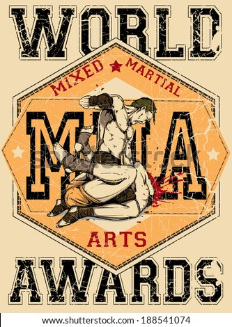Mixed martial arts/ Scratches are available in a separate layer and can be removed