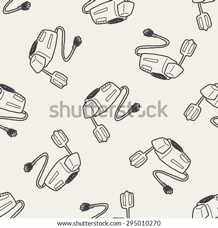 mixer doodle seamless pattern background