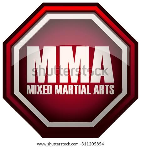MMA Mixed Martial Arts Sign, Vector Illustration. - stock vector