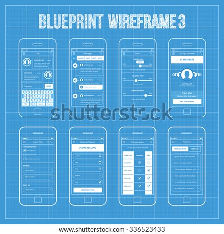 mobile app wireframe