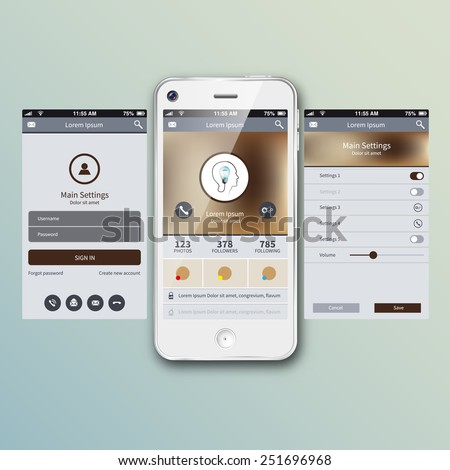 Mobile application interface concept. Vector Illustration, eps10 - stock vector