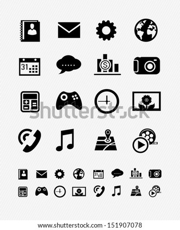 mobile applications graphic user interface icon - stock vector