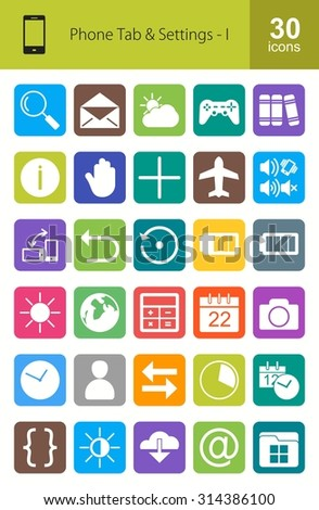 Mobile Apps Icon Set. Can also be used for Device Apps and Settings. Suitable for web apps, mobile apps and print media.