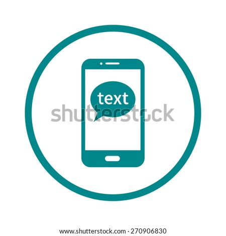 Mobile chatting icon.Mobile Phone Representing Web Chatting And Dialog. - stock vector