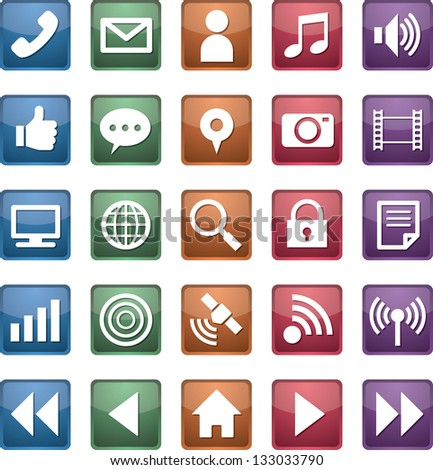 mobile communication icon - stock vector