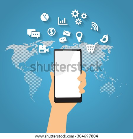 mobile connection infographics element and background. social media icon. Can be used for business data, web design, brochure template, advertising. text can be added. vector illustration
