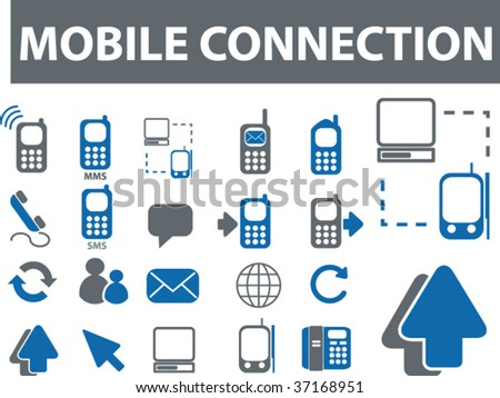 mobile connection. vector