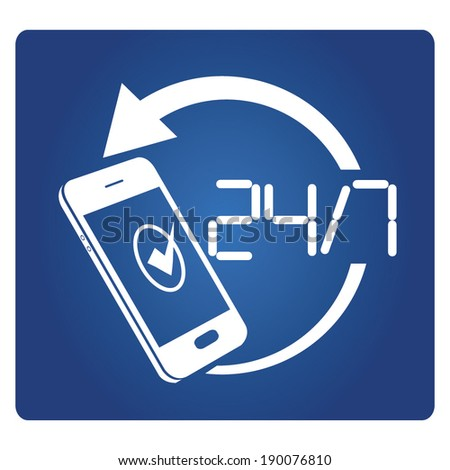mobile data security, smart phone real time protection  - stock vector