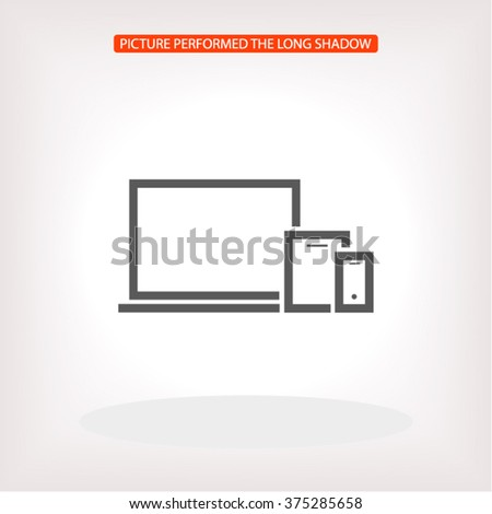 Mobile devices . line vector icon - stock vector