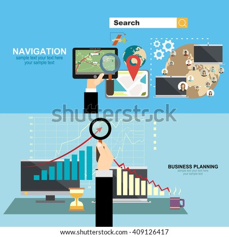 Mobile gps navigation on phone with map. Mobile technologies concept.business analysis and planning, financial strategy, consulting, team work, project management and development.