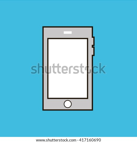 mobile icon. mobile sign - stock vector
