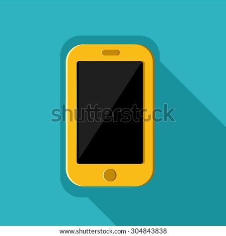 Mobile icon vector - stock vector