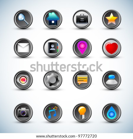 Mobile icons set