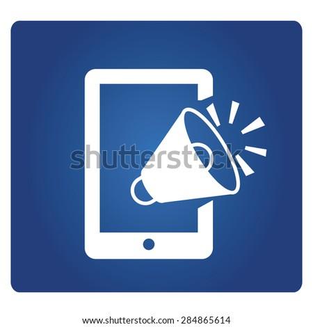mobile marketing - stock vector