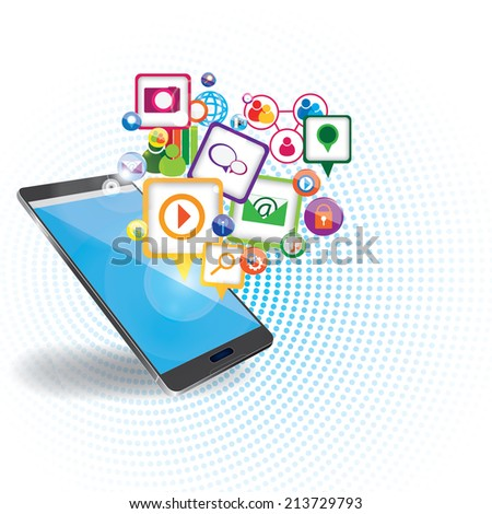 Mobile marketing background