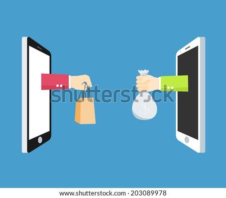 Mobile Marketing concept - stock vector