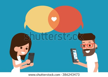 mobile massege chat bubble