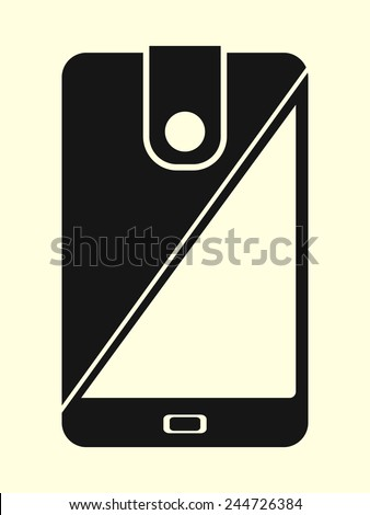 mobile money - cellphone as a wallet - stock vector