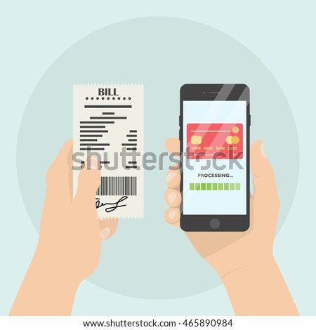 Mobile payment of bill