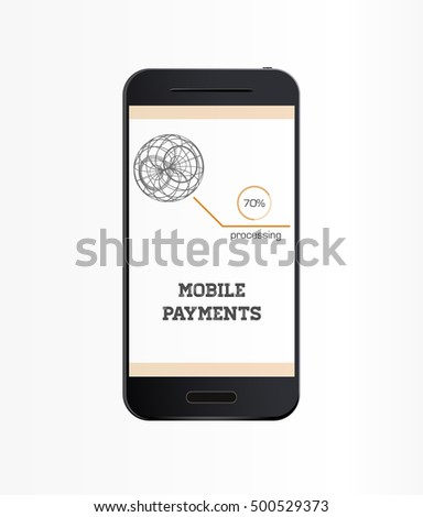 Mobile payment vector illustration