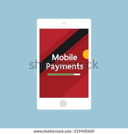 Mobile payments - stock vector