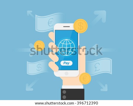 Mobile Payments. Financial Technology Concept Illustration.