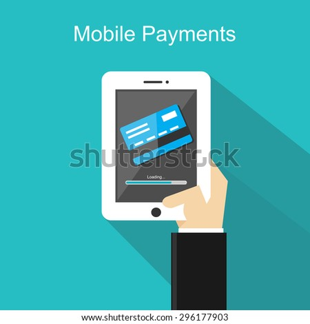 Mobile payments illustration concept.