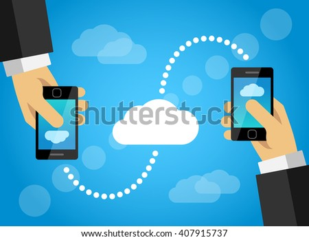 Mobile phone data sharing with internet cloud