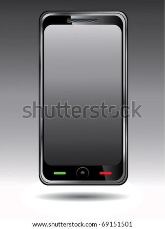 Mobile phone design - stock vector