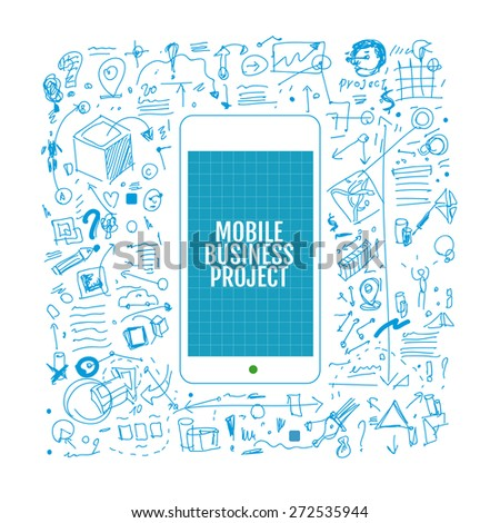 Mobile phone development vector illustration - stock vector