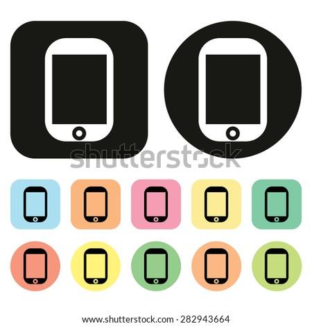 Mobile phone icon. Phone icon. Vector - stock vector