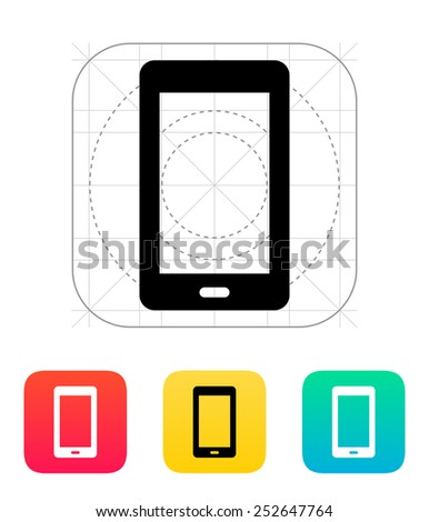 Mobile phone icon. Vector illustration. - stock vector