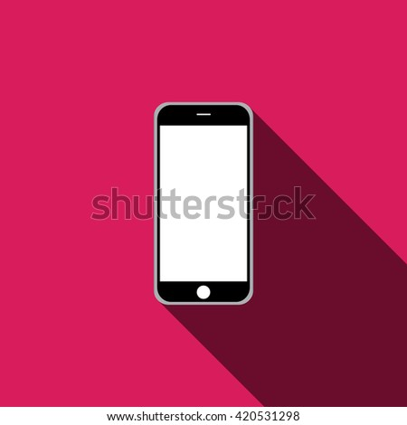mobile phone icon. Vector illustration EPS 10 - stock vector