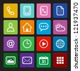 Mobile Phone Icons: Colorful Style - stock