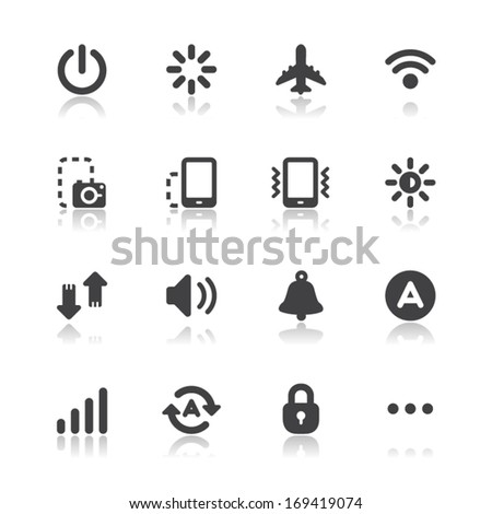 Mobile Phone Icons for application with White Background - stock vector