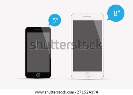 Mobile phone  isolated vector. - stock vector