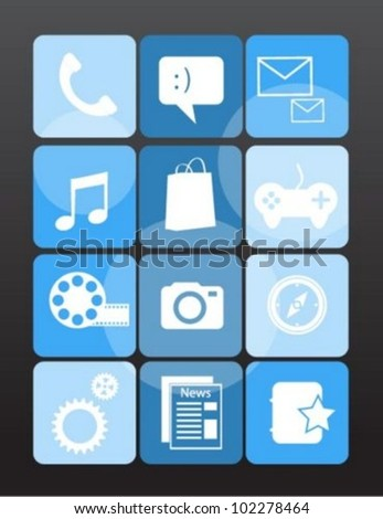 Mobile phone menu icons