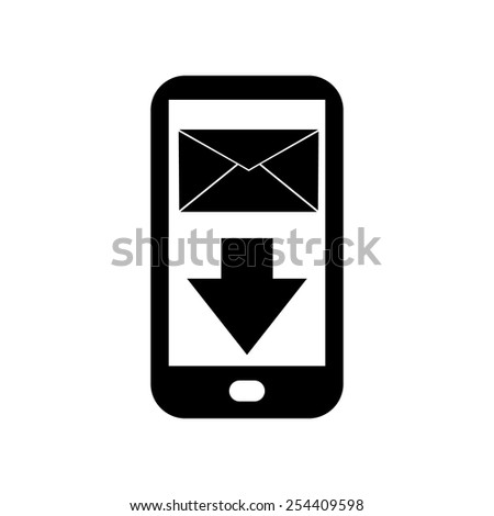 Mobile phone message icon - stock vector
