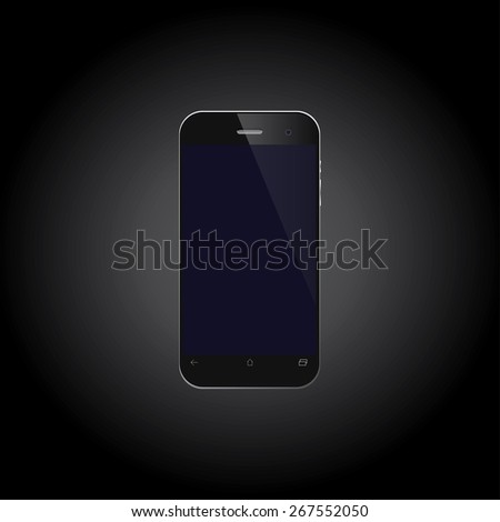 Mobile phone on black background