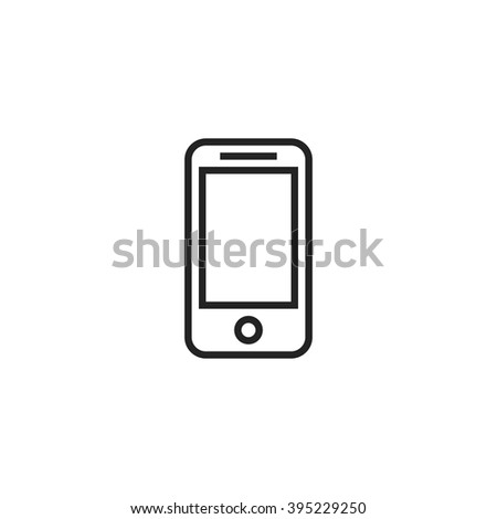 Mobile Phone Outline Icon - stock vector