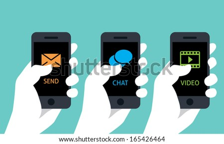 mobile phone service  - stock vector