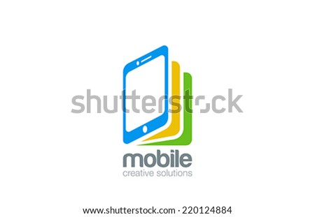 Mobile phone shop Logo design vector template. Smartphone as book idea. E-reading Education logotype. On-line store. Application icon concept. - stock vector