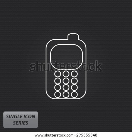 Mobile Phone - Single Icon Series - stock vector