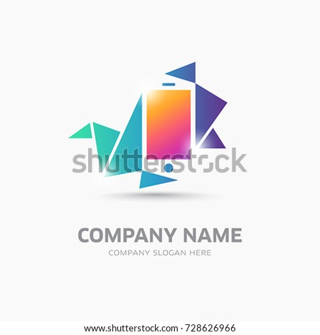 Mobile Phone Symbol Logo Template Stock Vector 728626966 ...