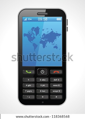 Mobile phone, vector illustration - stock vector
