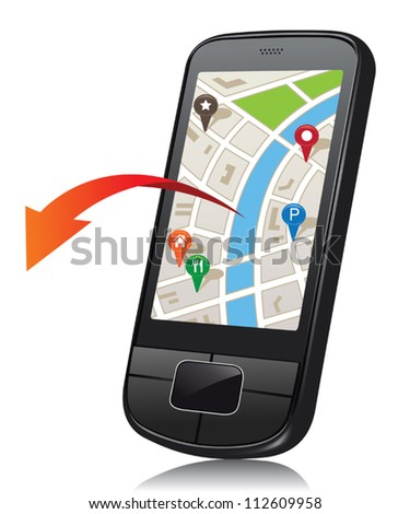 Mobile phone with navigation system